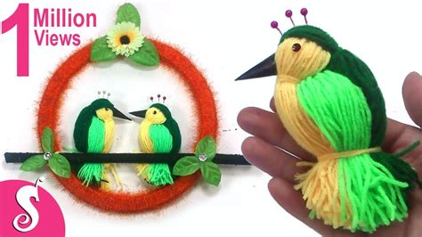home decoration things making home diy woolen birds wall hanging for home decoration youtube