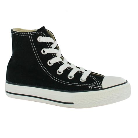 converse yas hi black white canvas shoe ebay
