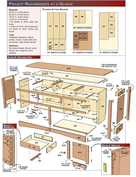 Sideboard Woodworking Plans shaker sideboard popular woodworking magazine