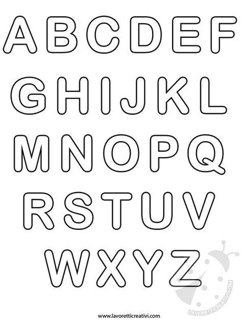 lettere dell alfabeto da colorare tutte le lettere dell alfabeto