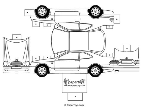 templates for cars paper toys cartype