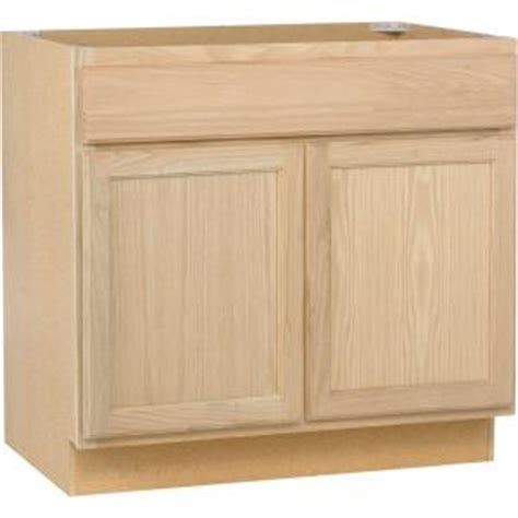 Unfinished Kitchen Cabinet Doors Home Depot Assembled 36x34 5x24 In Base Kitchen Cabinet In Unfinished Oak B36ohd The Home Depot