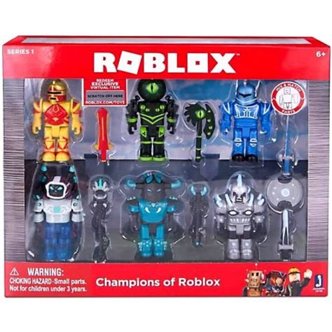 figure 6 pack chions of roblox figure 6 pack walmart
