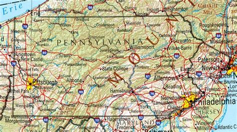 map of pennsylvania pennsylvania reference map
