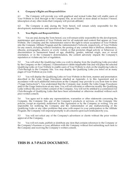 affiliate agreement template australia website affiliate agreement forms and