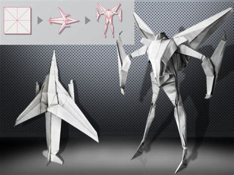 How To Make Transforming Origami - origami transformers by bertrand le pautremat starscream