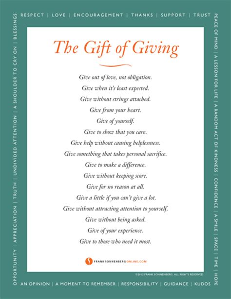 The Gift Of Giving the gift of giving