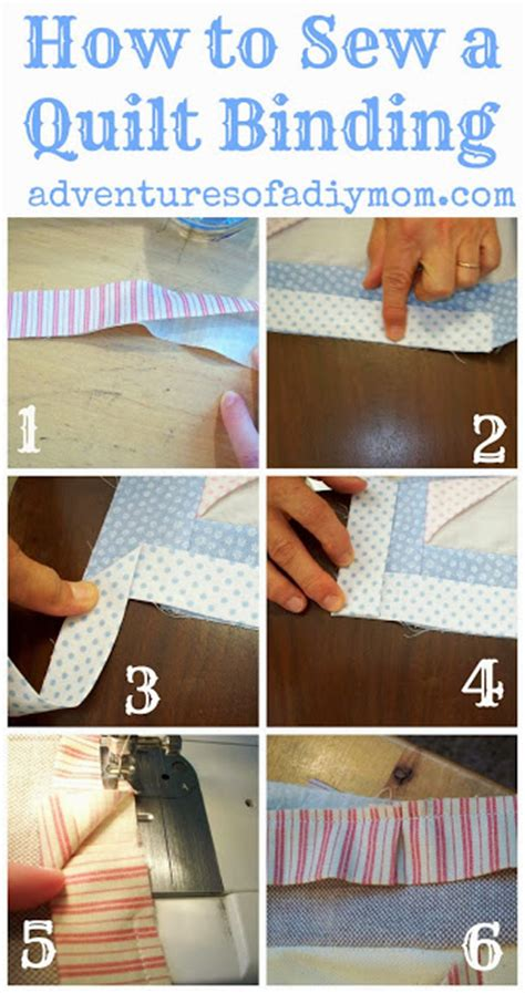 How To Sew The Binding On A Quilt how to sew a quilt binding adventures of a diy