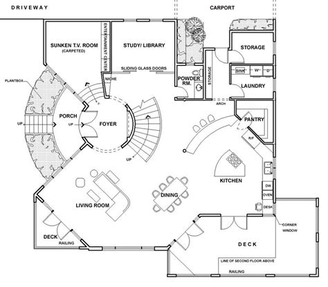 modern mansion floor plan um105