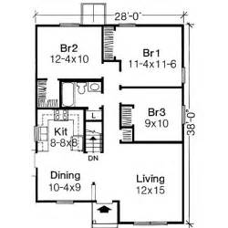 Simple Three Bedroom House Plan by 3bed 1bath 1000 Sq Ft Home And Lawn Ideas Pinterest