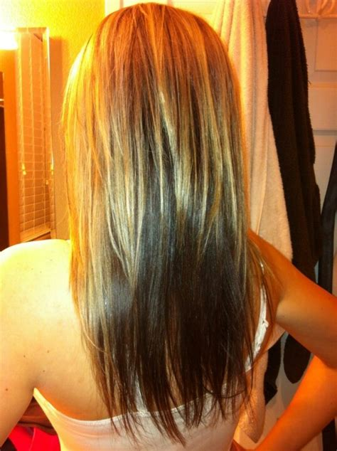 hairstyle reverse highlight 17 best images about long hair styles color and