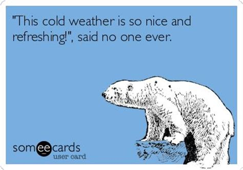 cold weather funny on pinterest this cold weather is so nice and refreshing said no