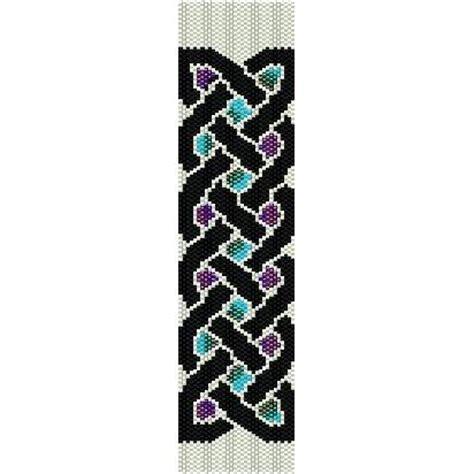 CELTIC KNOT   beading cuff bracelet SALE HALF PRICE OFF pattern for peyote SALE