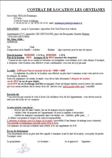 Exemple De Contrat De Location Meublée by Album Le De Jeolas Dominique
