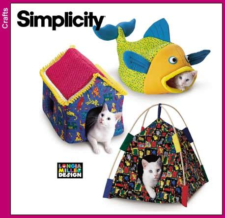 sewing pattern cat bed simplicity 9004 cat beds