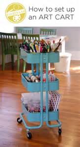 Raskog Cart Ideas how to set up an art cart tinkerlab