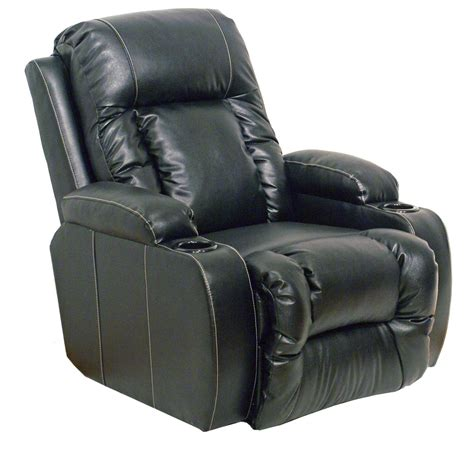 home cinema recliners catnapper 6420 black top gun bonded leather power home