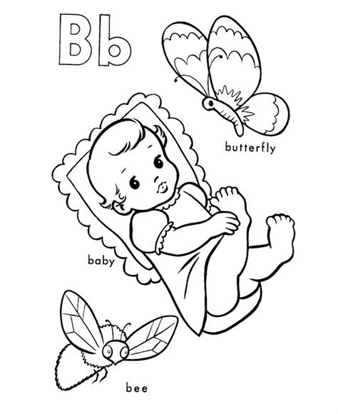 abc coloring pages for baby shower b coloring pages az coloring pages