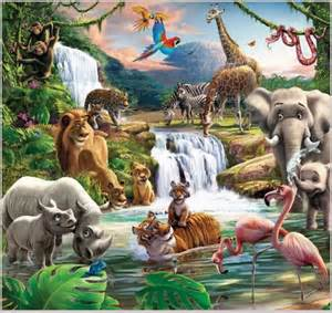 Children Wall Murals image gallery jungle wallpaper for kids