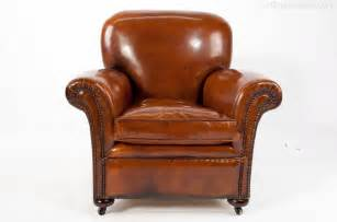 quality pair antique leather club armchairs antiques atlas