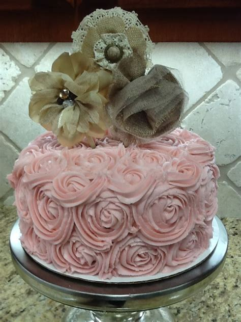 shabby chic birthday cake my cakes pinterest