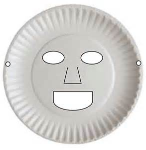 paper plate mask template paper plate masks diy craft