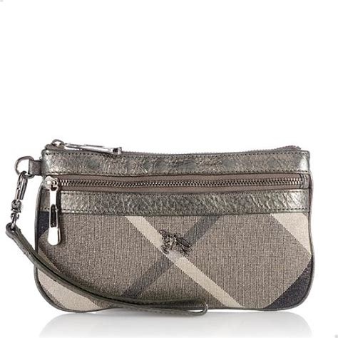 Burberry Wristlet by Burberry Shimmer Check Wristlet