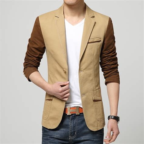 Blazer Jas New Brown Style aliexpress buy 2016 new arrival blazer autumn fashion sleeve mens casual blazers