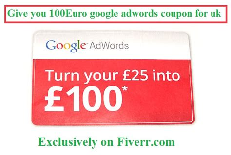 fiverr gig give you a give you 100euro google adwords coupon for uk fiverr