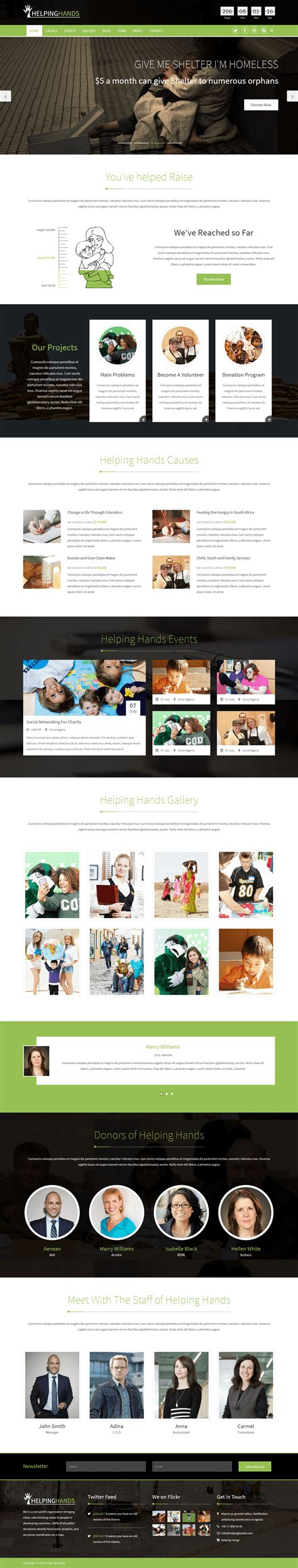 css templates for ngo website helping hands responsive ngo charity html5 template