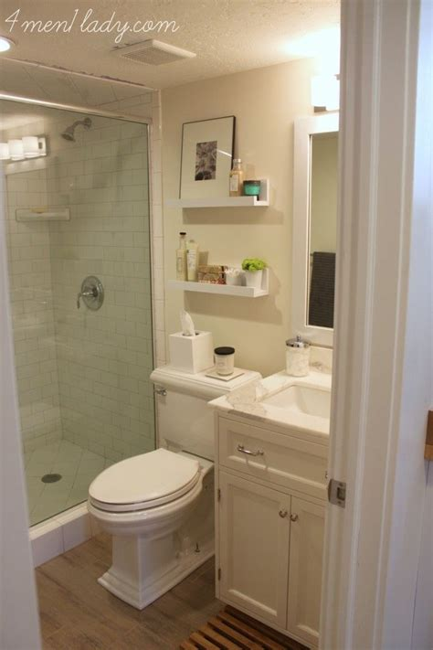 updated bathroom ideas small bathroom with nice finishes diy shelves are a nice
