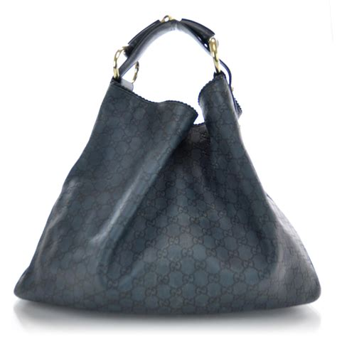 Gucci Chain Large Hobo by Gucci Guccissima Large Horsebit Chain Hobo Blue 33739