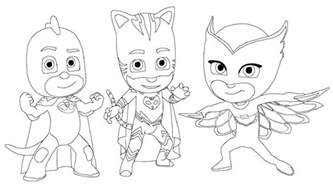 pj masks coloring sheets for kids coloring pages for