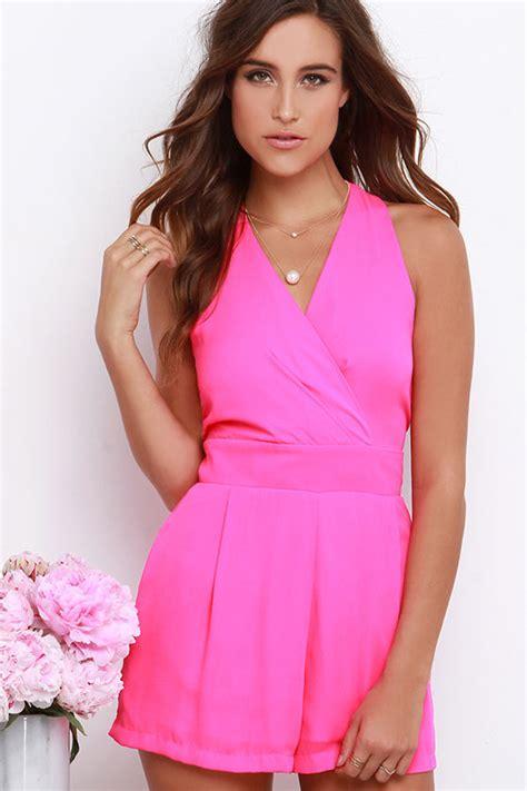 pink romper dressed  girl