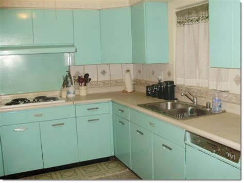 redo old metal kitchen cabinets vintage 1940s kitchen with popular aqua turquoise metal