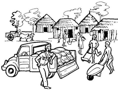 una imagen navideña para colorear imagenes para colorear de una comunidad rural imagui