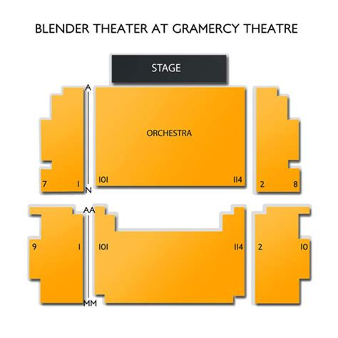 gramercy theater seating gramercy theatre seating chart seats