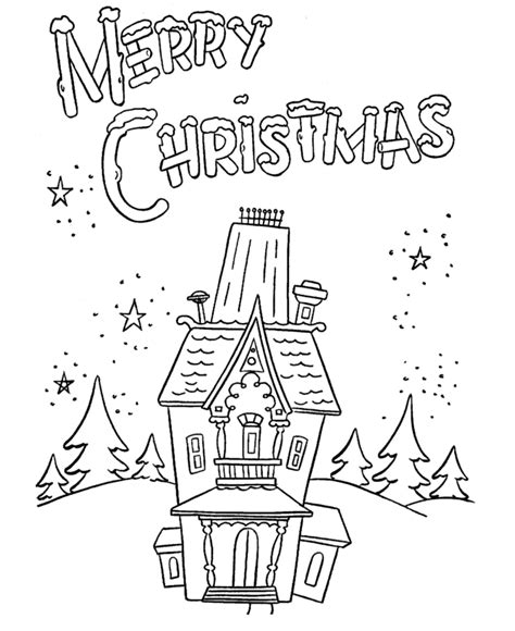 bluebonkers christmas theme coloring pages 7