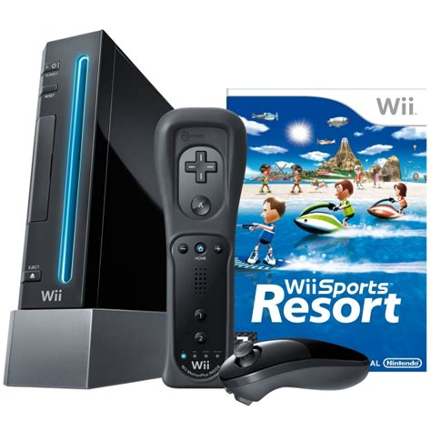 wii console sports black nintendo wii console including wii sports wii