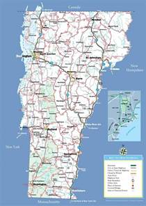 state of map with cities large detailed tourist map of vermont with cities and towns