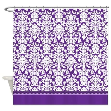 purple damask curtains purple damask shower curtain by inspirationzstore