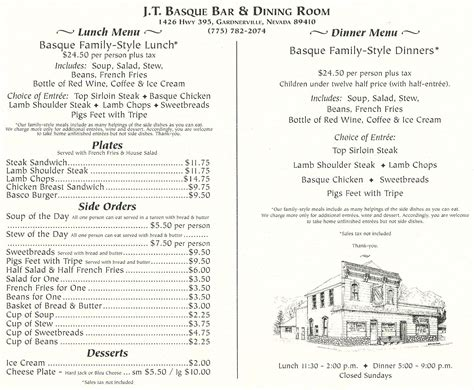 t room menu j t basque wine bar dining room menu urbanspoon zomato