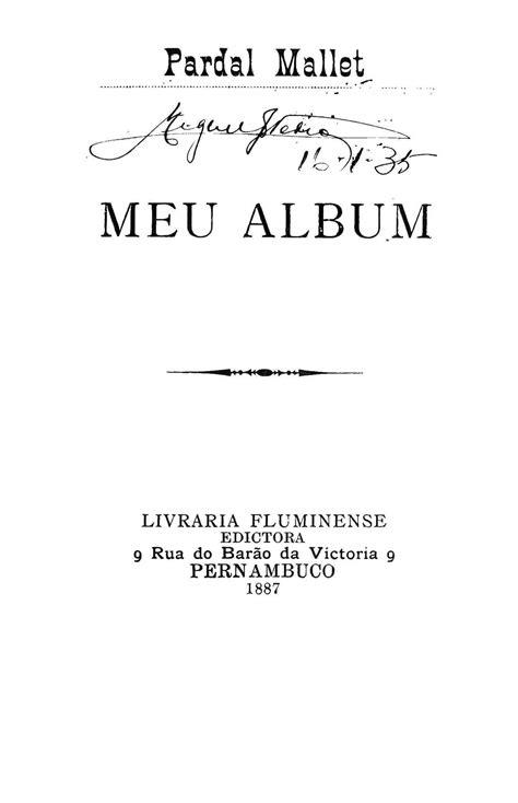 Biblioteca Brasiliana Guita e José Mindlin: Meu album