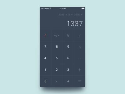 calculator ui calculator by oleg frolov dribbble