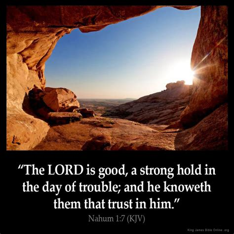 comforting bible verses kjv nahum 1 7 inspirational image