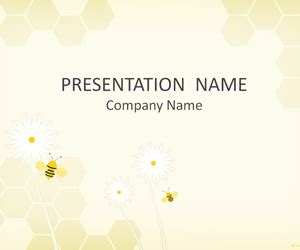 bee powerpoint template bees powerpoint template templateswise