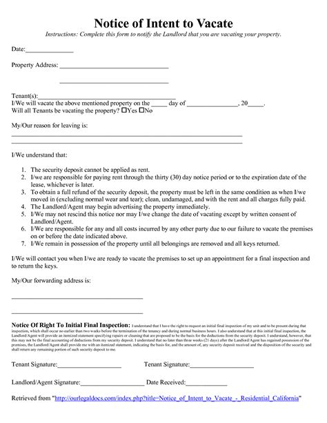 11 60 days notice letter reference format 60 day move out notice
