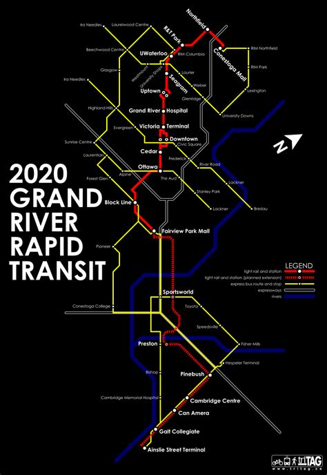 region of waterloo rapid transit psystenance - Kitchener Transit Routes