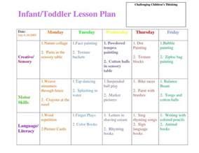 infant blank lesson plan sheets infanttoddler lesson