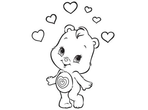 wonderheart bear coloring pages cute little wonderheart bear care bears activity ag kidzone